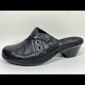 Clarks Bendables Leather Clogs Women's 8M